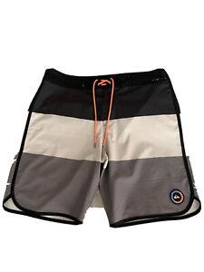 Quicksilver Board Shorts Mens 34 Blue High Line 4 Way Stretch
