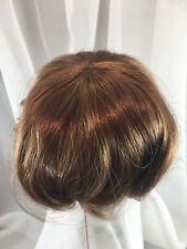 "9/10"" Partial Cap Baby Auburn Doll Wig Reborn OOAK BJD Bisque Repair TOTSY"