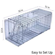"""Trap For Cats Ferral Mole Vole Racoon Rabbit Live Cage No Kill 32"""" x 11"""" x 13"""""""