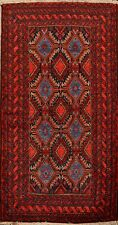 Tribal Geometric Balouch Afghan Oriental Area Rug Hand-Made Kitchen Carpet 4'x6'