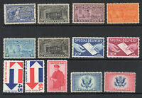 1917 1971 Airmail Special Delivery Certified 13 diff MNH & MH E11 E23 CE1-2 FA1