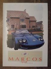 Marcos Mantara COUPE & SPYDER ORIG 1992 UK Mkt opuscolo di vendita