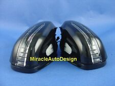 ARROW LED BLACK DOOR MIRROR COVER SET FOR 2005-2008 MERCEDES BENZ W219 CLS-CLASS