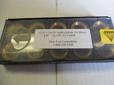 NEW GEM TOOL LOT OF 10 SOLID CARBIDE I.D. RINGS  GTC-1236 D1 GTC1236 COATED