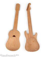 cubiertos para ensalada Guitarra ROCKIN´SPOONS Madera Eléctrica Cuchara de