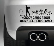 NO ONE CARES ABOUT YOUR STICK FAMILY CAR BUMPER STICKER FUNNY DRIFT JDM 4X4