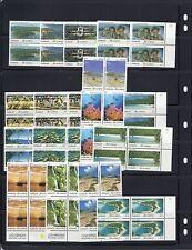 VANUATU 1993 'THE SCENERY' definitives blocks of 4 VF MNH