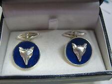 gemelli lapis lazuli con testa di volpe in argento 925 lavorazione artigianale