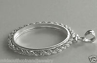Coin Bezel Mount U.S.HALF DOLLAR .925 Sterling Silver Rope Bezel Soldered Bail