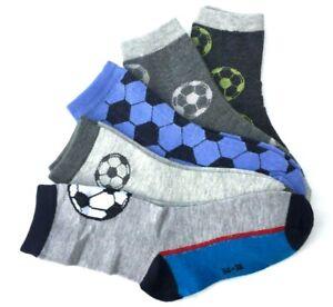 3-5 PAAR Kinder Socken Strümpfe Jungen bunt Söckchen Sneaker Fußball  34-39 #K28