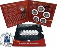 Deutschland 5 x 25 Euro Deutsche Einheit 2015 Spiegelglanz Silber Satz A D F G J