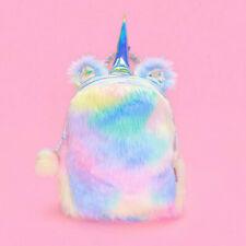 Милая девочка-подросток мини-плюшевый единорог рюкзак ребенок Радуга школьная сумка подарок на день рождения