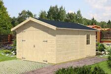 Holzgarage Varberg-45 1 Holz 370x525 cm Autogarage Überdachung Einzelgarage