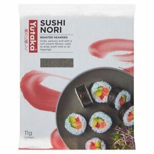 Yutaka Sushi Nori Roasted Seaweed Sheets 5x11g pack