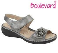 LADIES HALTER BACK Adjustable Embellished Sandals - Silver Grey Size 3 4 5 6 7 8