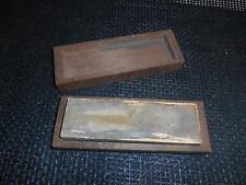 Old Vtg  STRAIGHT RAZOR HONE SHARPENING STONE Wood Case Honing Knife Knives