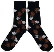 Herren Weihnachten die Türkei mit Rindfleisch Banner Socken Uk 11.06 / Eur 39-45
