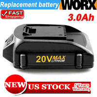 WA3525 20 Volt 3.0Ah Replacement for Worx 20V Lithium Battery WA3520 WG151s Pack