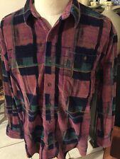 Ralph Lauren Vintage 1980s 90s Corduroy Shirt Plush XLarge Chaps Purple