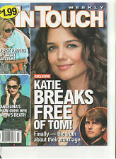 IN TOUCH 2007 KATIE HOLMES FREE OF TOM JOLIE LINDASY LOHAN ANNE HECHE BIEL SAG