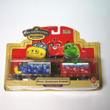 OLD BOX LEARNING CHUGGINGTON WOODEN MAGNETIC TRAIN- WINETR WONDERLAND BREWSTER