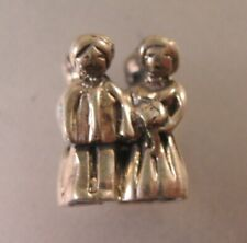 Wedding Couple Sterling Silver Charm Slide Charm Bride & Groom Charm Bride Groom