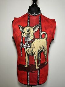 Primal Wear Dogma Chihuahua Dog Red Cycling Shirt Jersey Sleeveless Tank Vest XL