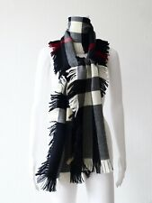 BURBERRY DAMEN SCHAL WOLLE NOVA CHECK SCARF WOOL 230 X 25 CM NEU/NEW!