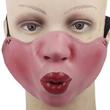 Latex Half Face Mask Pouting Big Lips Mick Jagger Fancy Dress Kiss Stag Night