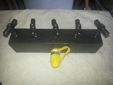 Hydraulic Manifold 5 way Power Pack Single Acting Hydraulic Rams Tools