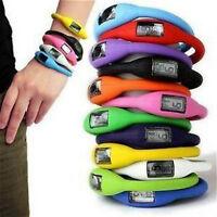 Fashion Silicone Silicon Rubber Jelly Sports Digital Gym  Watch