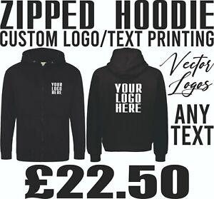 Hoodie Printing Personalised Logo Custom Business Branding Prints Staff Clothing