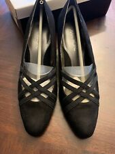 Markon Quarry  High Heel Wedge Women's Shoes Black Suede Size 8 M