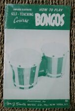 How to Play Bongos 1965 Illustrated Booklet Mid Century Kitsch Wm. J. Smith