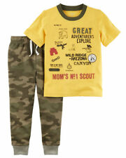 """Carter's """"Mom's Scout"""" Tee & Camo Pants 2-Piece Outfit Baby Boy 6 Months NEW"""