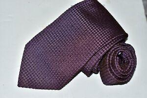 Men's Hugo Boss Purple  Silk Neck Tie made in Italy