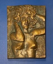 A Woman on a Bronze Plate