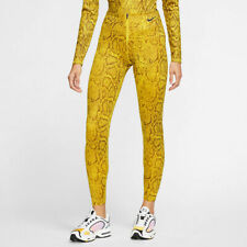 Nike Sportswear Womens Python Leggings Cj6353-735 Yellow Size XS