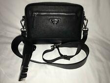 Prada leather cross body/clutch bag