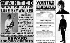 Star Wars Set Of 2 Luke Skywalker Wanted Poster Prop/Replica Prints  Mark Hamill