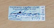 "1963 ""California License Stamp"" Fishing/Channel Catfish~"