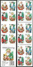 3540g 3537b-3540e Christmas Santa Booklet with  LARGE DATE Mint NH