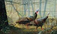 Turkey Tile Backsplash Robert Binks Wildlife Art Ceramic REB018