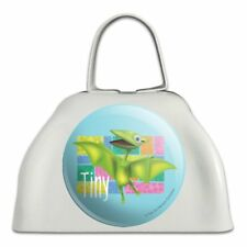 Dinosaur Train Tiny White Metal Cowbell Cow Bell Instrument