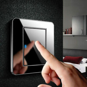 Smart Touch Light Switch Crystal Glass 1Gang 1Way Panel Power Wall Control