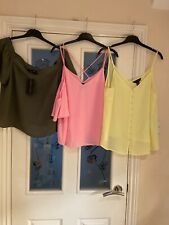 Ladies Clothes Size 12 New Look Summer Tops X3 (678)