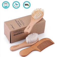 Baby Infant Toddler Hair Soft Brush Comb Set Safe Bristle Cradle Scalp Massage
