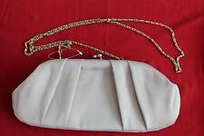 MONSOON ACCESSORIZE Grey Elegant Satin Party Clutch Hand Bag