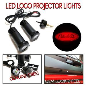 Lumenz C3 LED Courtesy Logo Lights Ghost Shadow Peterbilt Semi 100648 Red