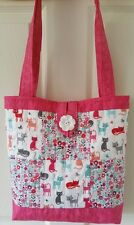Quality Sewing Craft Kit - Patchwork Quilted Cat Tote Bag
